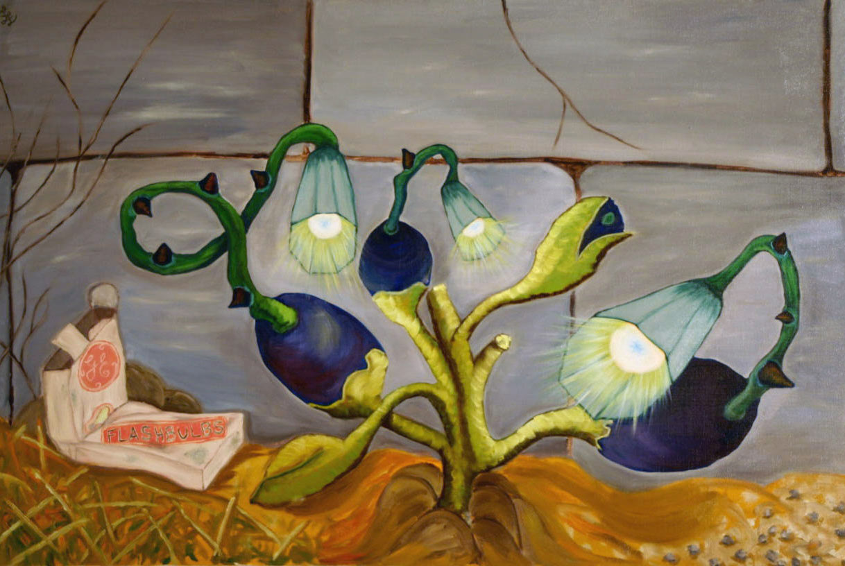 Lightbulb Plant, fine art